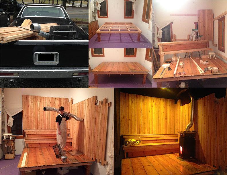 Art Studio Amanda Kirkhuff Sauna Set El Camino Lumbersexual