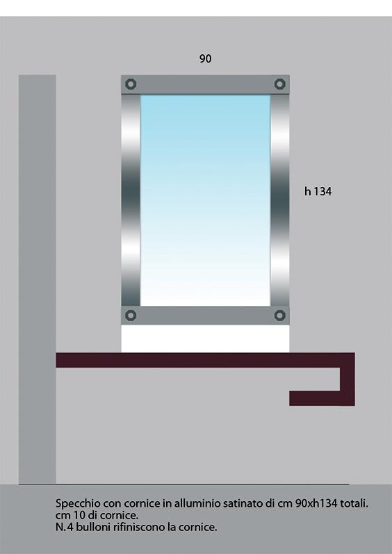 Mirror engraved iron