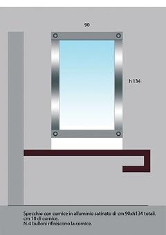 Progetto Specchio bagno per Privato