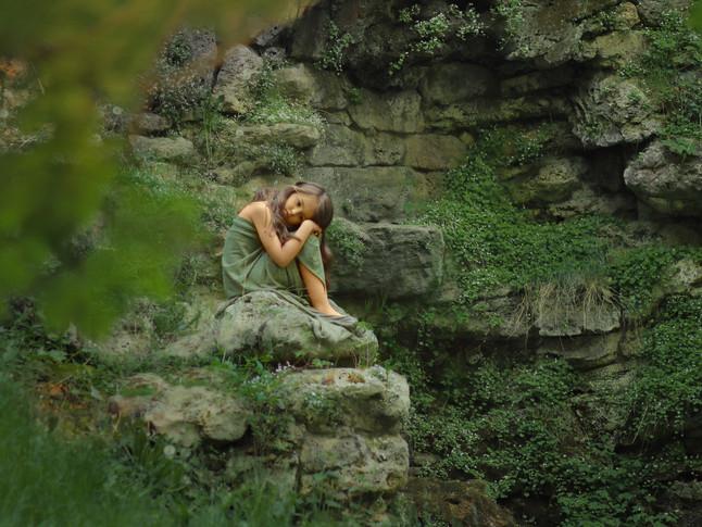 Bei dem alten Wasserfall