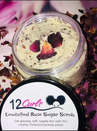Emulsified Rose Sugar Scrub