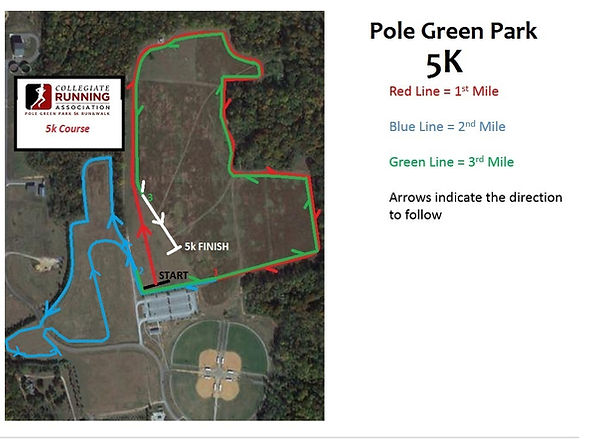 5K Course Map REDESIGN2020--Pole Green P