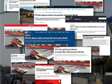 Avrupa Yarışının Basında Yankıları (TR)