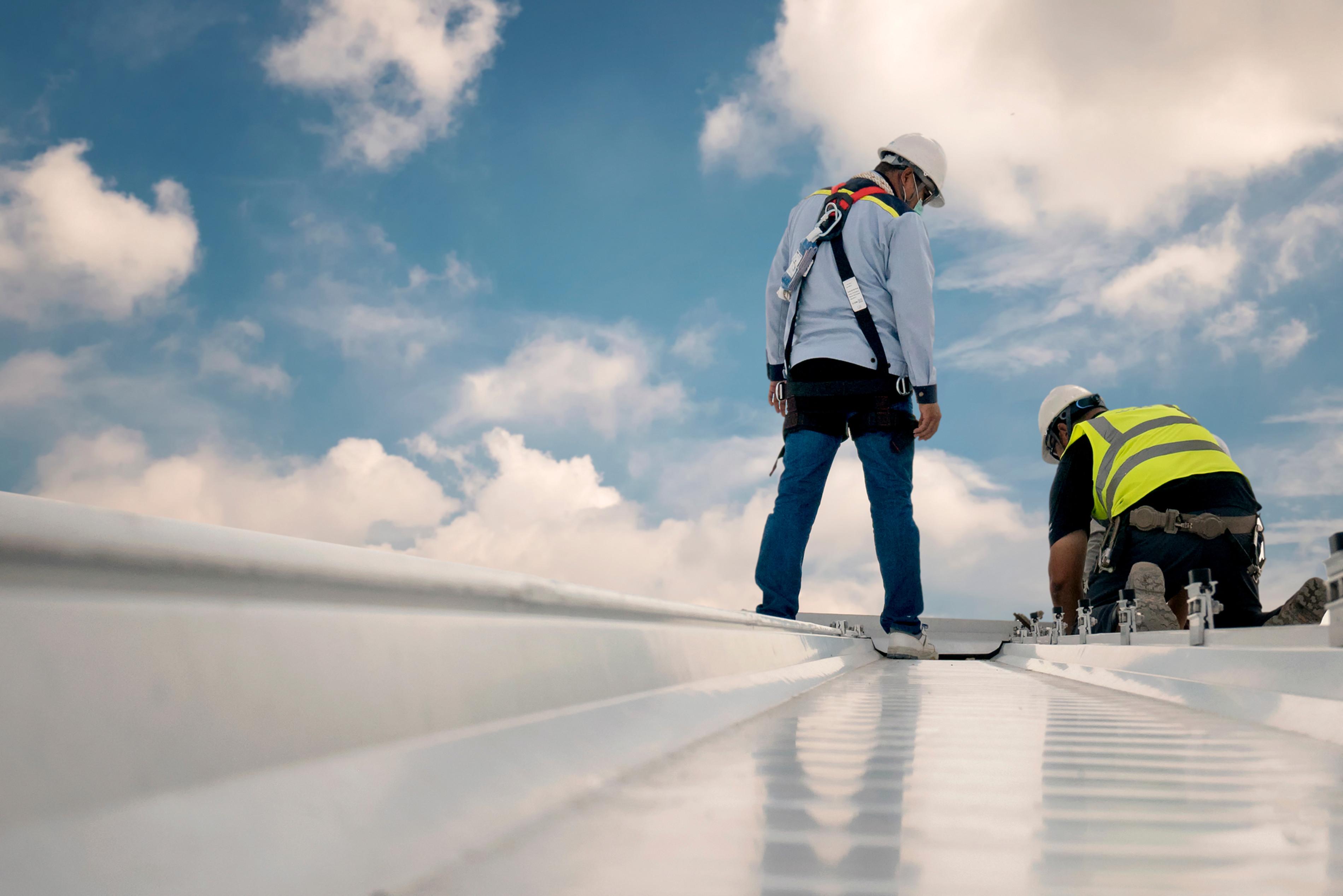 Dachflächen-Wartung