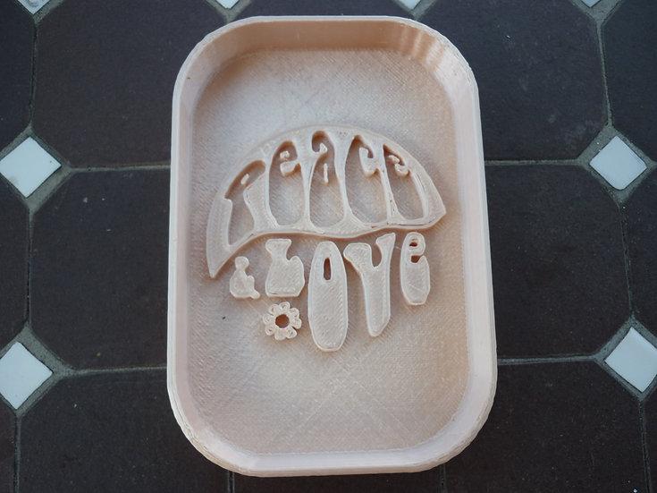 Porte savon n°20 - Peace & Love