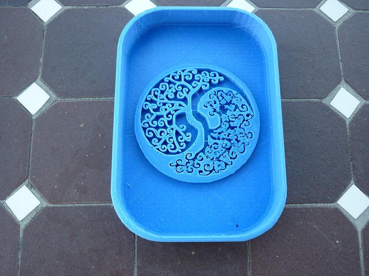 Porte savon n°6 - Arbre de vie Yin Yang