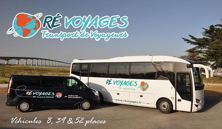 Ré Voyages île de ré, véhicules 8, 39 & 52 places