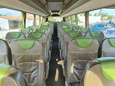 Intérieur autocar Magelys Ré Voyages île de ré - La Rochelle