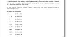 """Cambio de fecha """"Campaña de Vacunación Escolar"""""""