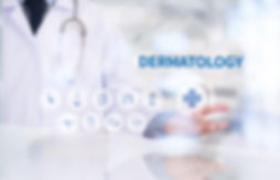 DERMATOLOGY Medicine doctor working with