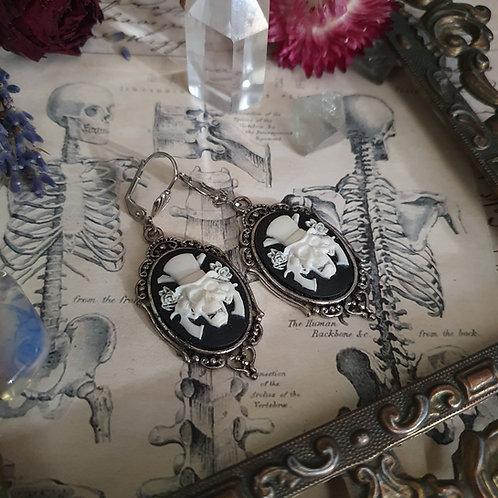 Guns and roses gothic silvertone earrings