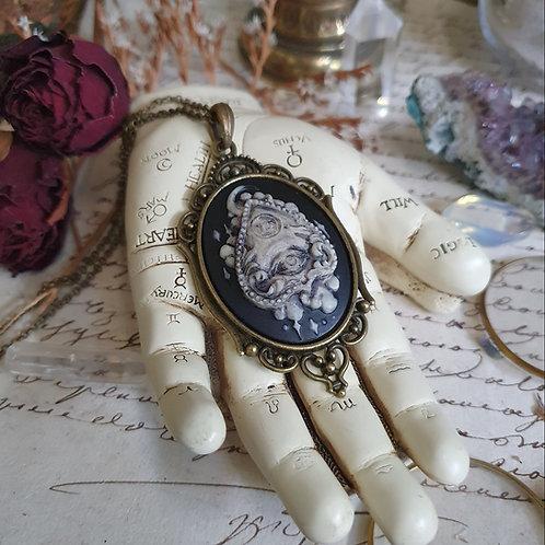 Collier pendentif planche ouija Bronze gothique