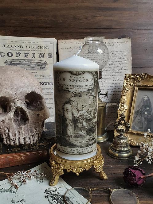 Spirits magic witch ecorative pillar candle gothic