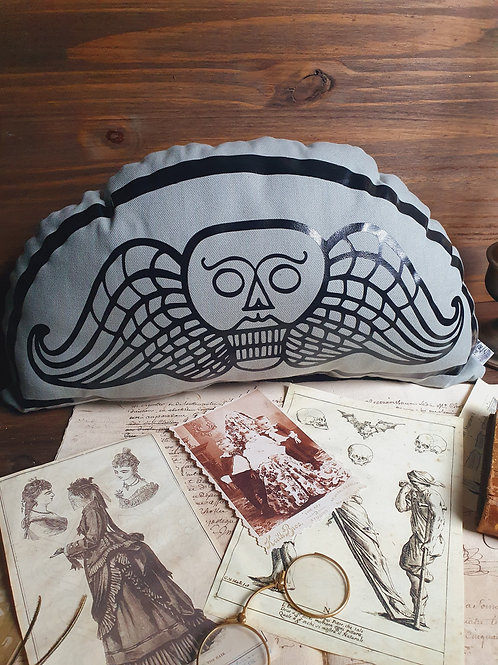 New england old graveyard stone cotton pillow printed