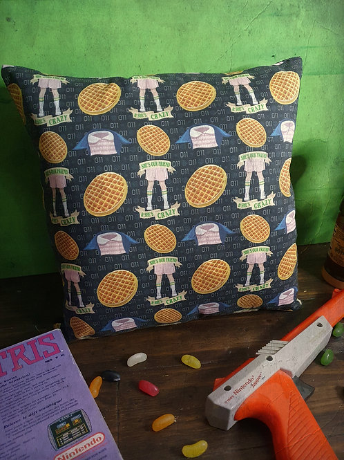 Stranger Things Eleven printed square pillow