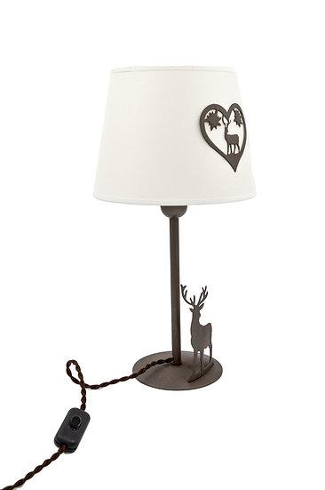 02. LAMPADA DA TAVOLO Cervo e Cuore