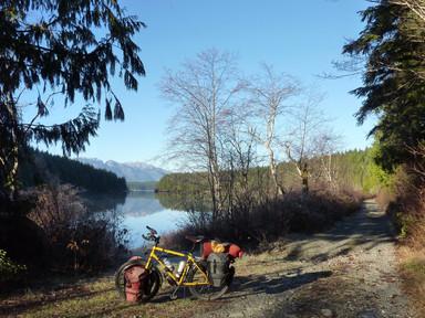 Looking north up Stella Lake