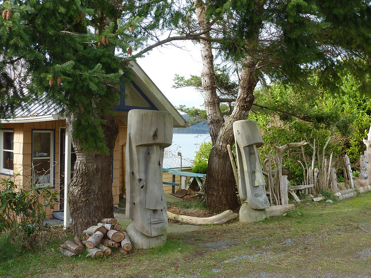Sointula seaside, Malcolm Island | Bere Point Regional Campground | cycle touring north Gulf Islands