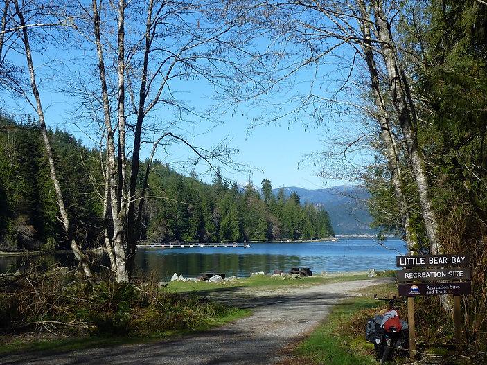 Little Bear Bay Rec Camp | bikepacking NE of Roberts Lake | cycle touring Vancouver Island