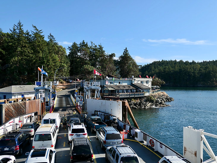 Lyall Bay ferry terminal, Saturna Island | cycle touring south Gulf Islands