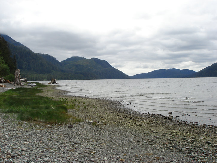 Nitinat Lake Rec Campground | bikepacking Cowichan Lake to Port Alberni | cycle touring Vancouver Island