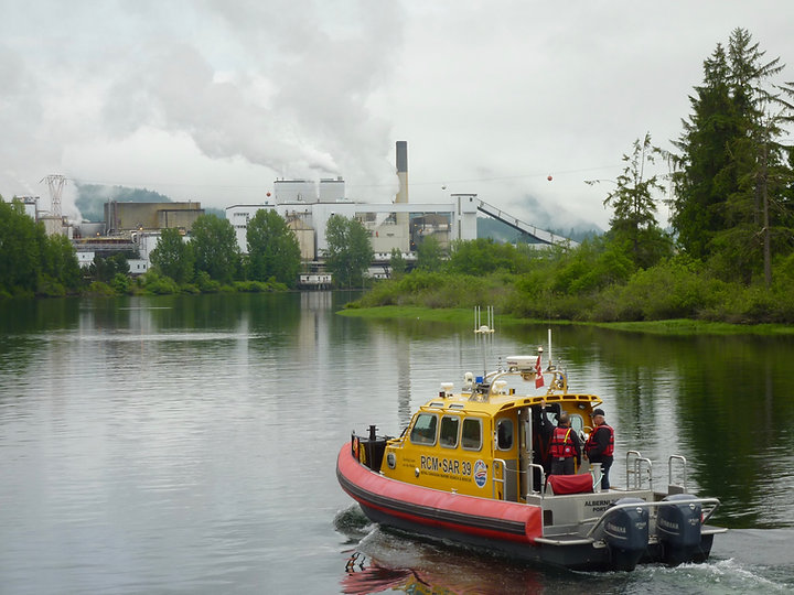 Somass River & Catalyst Mill in Port Alberni | Pacific Rim Highway west to Tofino