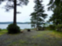 Naka Creek Rec Camp | cycle touring north Vancouver Island