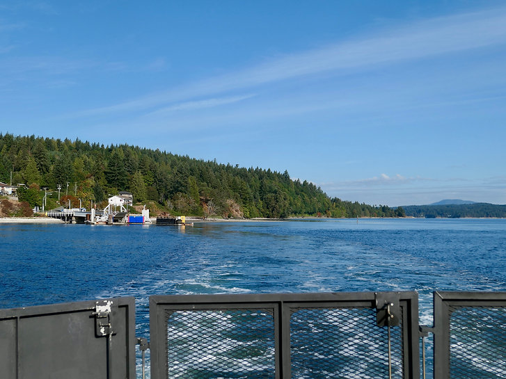 Mill Bay ferry terminal | ferry to Brentwood Bay terminal | cycle touring Vancouver Island