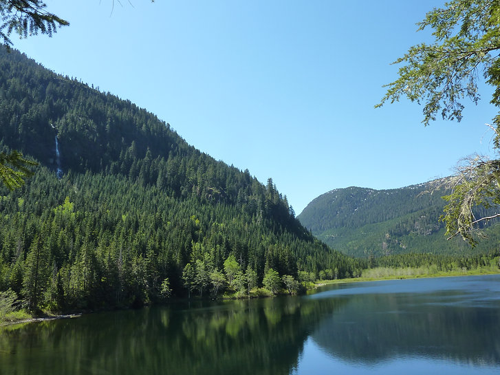 June Lake, Strathcona Park | bikepacking NE of Port Alberni | cycle touring Vancouver Island