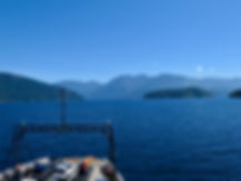 BC Ferry on Jervis Inlet | Saltery Bay to Earls Cove | cycle touring Sunshine Coast