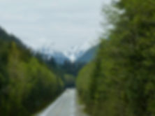 North Island Highway | south of Woss | cycle touring north Vancouvr Island