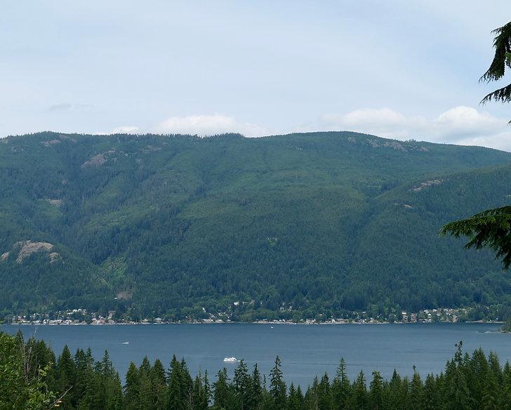 Youbou from across Cowichan Lake | cycling Cowichan Lake | cycle touring Vancouver Island