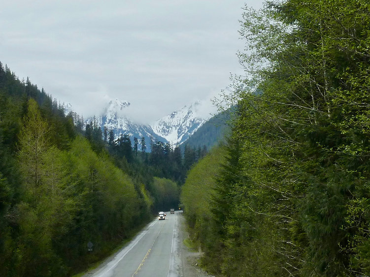 North Island Highway | north of Sayward | cycle touring north Vancouver Island