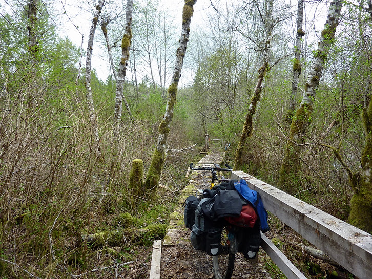 Powell Forest Canoe Circuit | bikepacking portage trails | cycle touring north Sunshine Coast