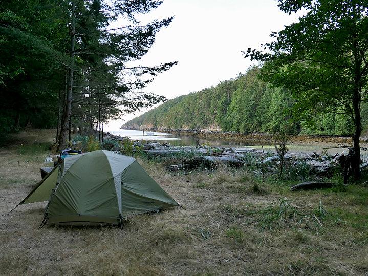 Anderson Bay Provincial Park Campground   bikepacking south Texada Island