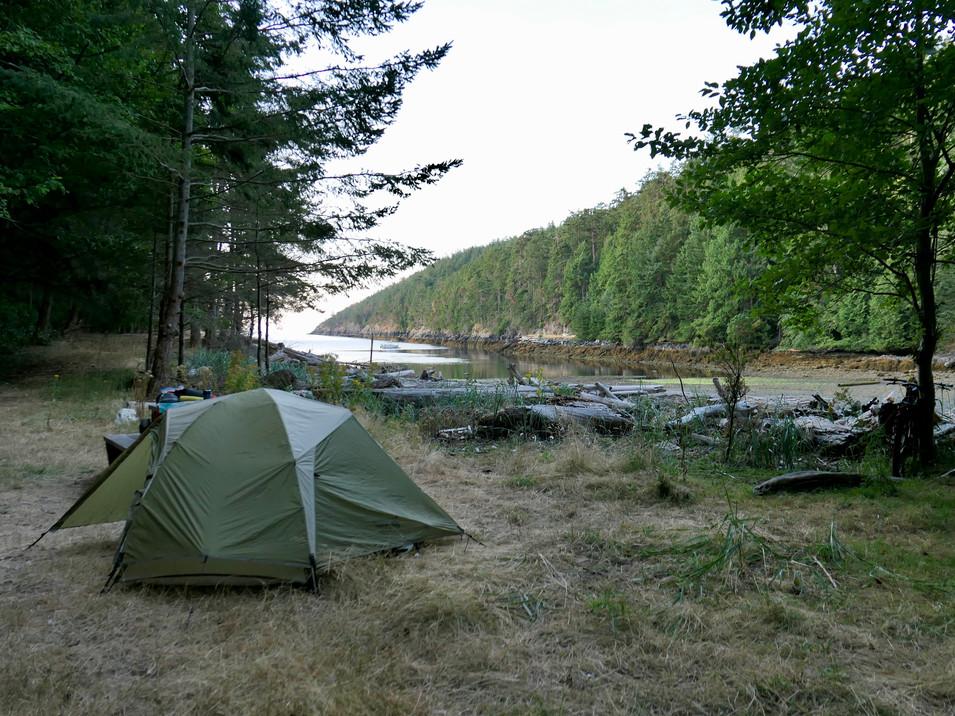 Camping at Anderson Bay