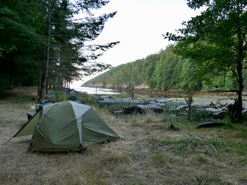 Camping at Anderson Bay