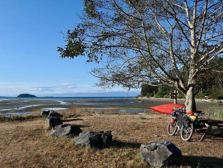 Gillies Bay, NE Texada Island | Shelter Point Regional Campground | cycle touring Texada Island