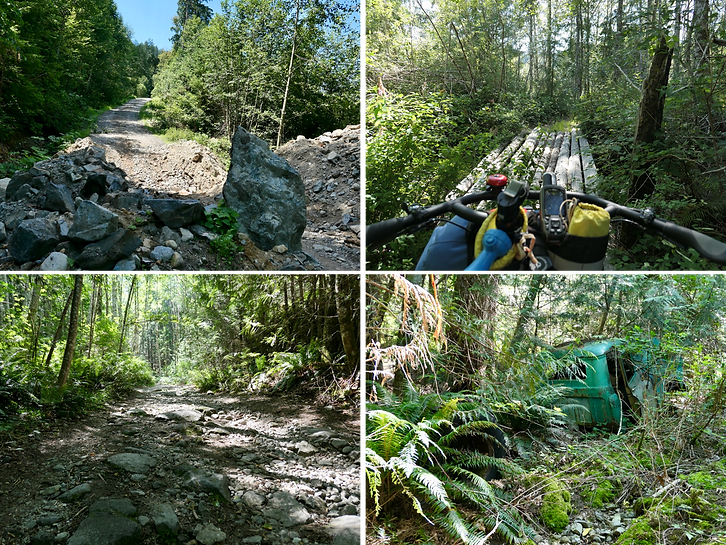 Roads to Sarah Point | bikepacking Malaspina Peninsula
