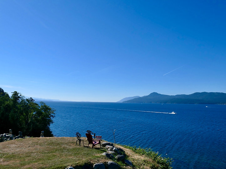 Sunshine Coast east of Powell River | cycle touring north Sunshine Coast