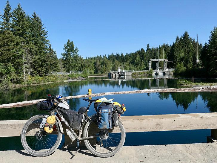 Bridge over Puntledge River | NE Comox Lake | cycle touring Vancouver Island