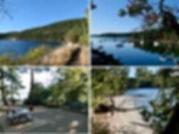 Montague Harbour Provincial Marine Campground | Galiano Island | cycle touring south Gulf Islands