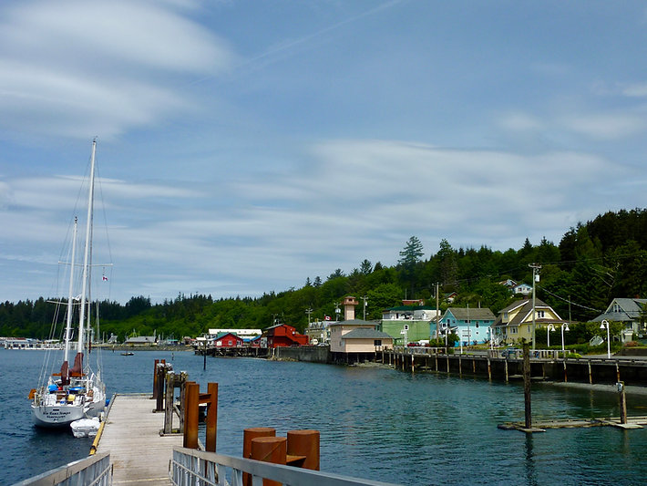 Alert Bay seaside | Cormorant Island | cycle touring north Vancouver Island