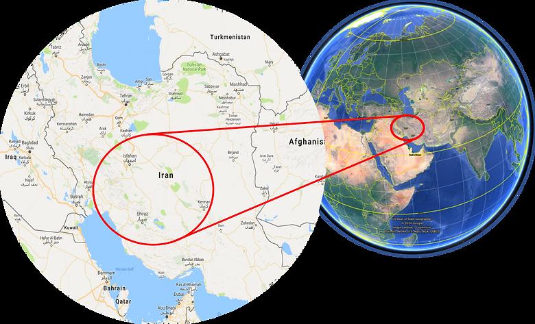 World location map | cycle touring Iran