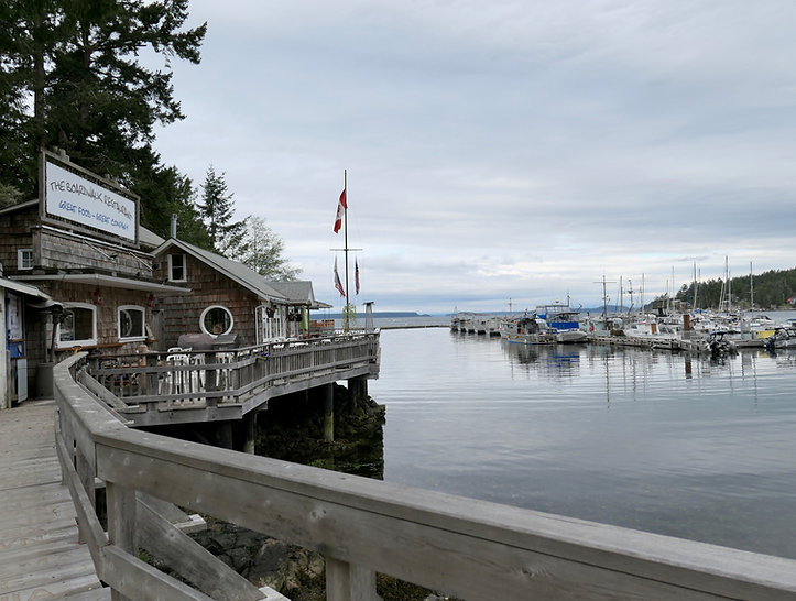 Lund Harbour & boardwalk | Malaspina Peninsula | bike touring Sunshine Coast