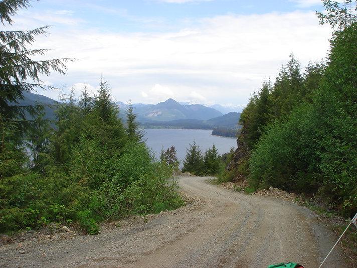 Rossander Main along Nitinat Lake | bikepacking Nitinat Lake | cycle touring Vancouver Island