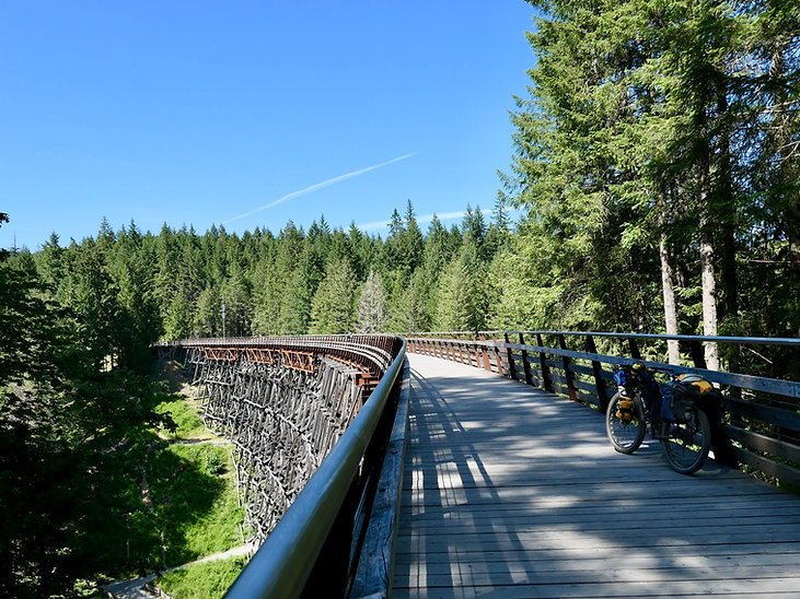 Kinsol Trestle | Cowichan Valley Trail | cycle touring south Vancouvr Island