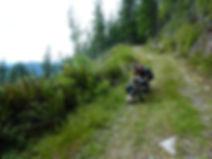 bikepcking descent from Mt Hallowell | bike touring Sunshine Coast | Spipyus Provincial Park