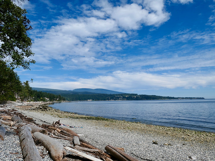 Coastline north of Sechelt | bike touring Sunshine Coast