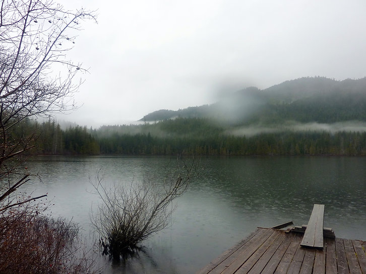 Wokas Lake Rec Camp | west from Campbell River | cycle touring Vancouver Island